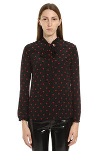 Printed silk blouse, Blouses Red Valentino woman