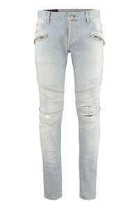 Worn-out details jeans, Slim jeans Balmain man