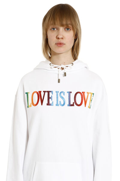 Love Is Love cotton hoodie