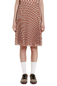 Printed pleated skirt, Pleated skirts Burberry woman