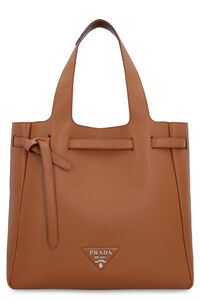 Pebbled leather tote, Tote bags Prada woman