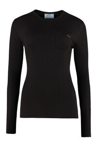 Long sleeve T-shirt, Long sleeved Prada woman
