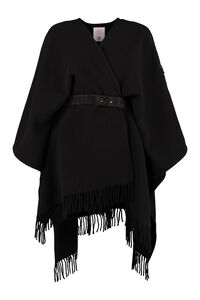 Wool fringed cape, Capes Moncler woman