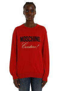 Intarsia cotton sweater, Crew neck sweaters Moschino woman