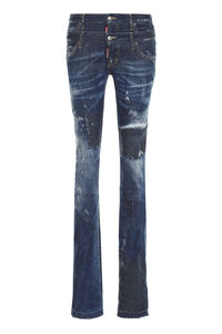 Worn-out details jeans, Straight Leg Jeans Dsquared2 woman
