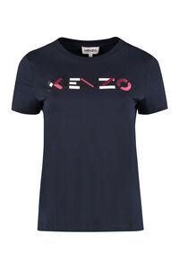 Logo print cotton t-shirt, T-shirts Kenzo woman
