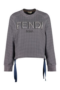 Cropped cotton sweatshirt, Sweatshirts Fendi woman