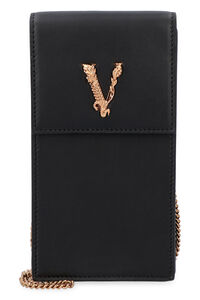 Virtus leather phone holder, Shoulderbag Versace woman