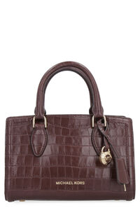Crocodile print leather handbag, Top handle MICHAEL MICHAEL KORS woman