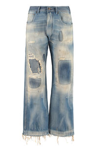 Destroyed straight leg jeans, Cropped Jeans Maison Margiela woman