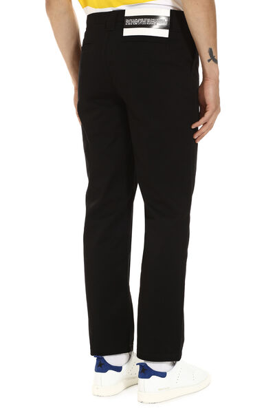 Embroidered straight-leg trousers