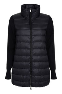 Knitted sleeves long padded jacket, Casual Jackets Moncler woman