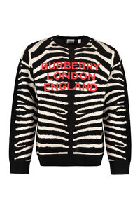 Wool-blend crew-neck sweater, Crew necks sweaters Burberry man