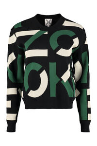 Crew-neck cotton blend sweater, Crew neck sweaters Kenzo woman