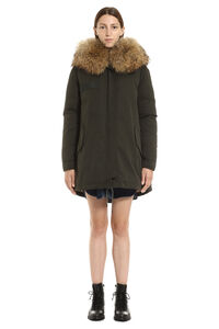 Fur hood parka, Down Jackets Mr & Mrs Italy woman