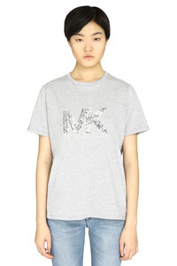Logo print cotton t-shirt, T-shirts MICHAEL MICHAEL KORS woman