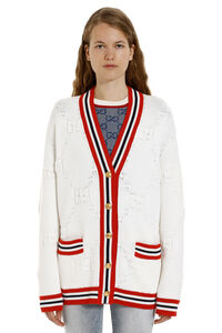 Cardigan con bottoni gioiello, Cardigan Gucci woman