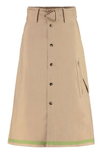 Belted cotton skirt, Midi skirts Bottega Veneta woman