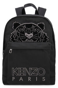 Logo detail nylon backpack, Backpack Kenzo man