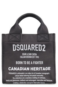 Printed leather mini-tote, Tote bags Dsquared2 woman