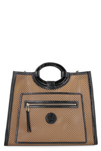 Runaway perforated leather tote bag, Tote bags Fendi woman