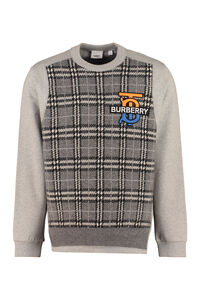 Cotton crew-neck sweatshirt, Sweatshirts Burberry man