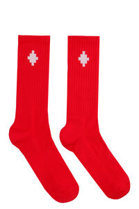 Logo cotton blend socks, Socks Marcelo Burlon County of Milan man