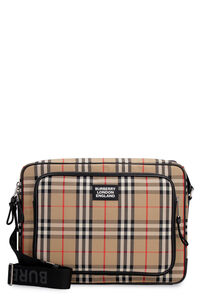 Borsa messenger con stampa check, Messenger Burberry man
