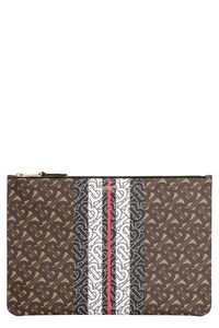 Clutch in canvas spalmato, Buste Burberry woman