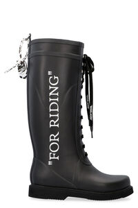 For Riding Wellington rubber boots, Knee-high Boots Off-White woman