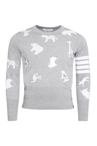 Jacquard wool pullover, Crew necks sweaters Thom Browne man