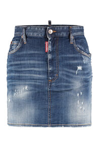 Denim mini skirt, Denim Skirts Dsquared2 woman