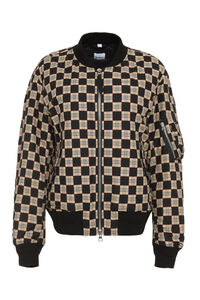 Checked cotton bomber jacket, Bomber jackets Burberry man