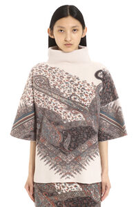 Cashmere-wool poncho sweater, Turtleneck sweaters Etro woman