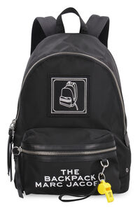 Embroidered patch nylon backpack, Backpack Marc Jacobs woman