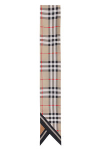 Double-face silk scarf, Scarves Burberry woman