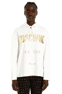 Cotton blend hoodie, Hoodies Moschino woman