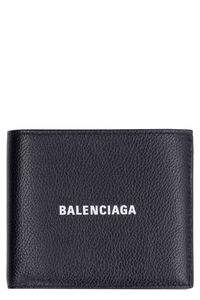 Grainy leather wallet, Wallets Balenciaga man