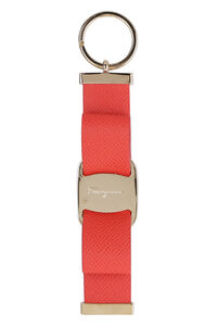 Leather keyring with logo, Keyrings Salvatore Ferragamo woman