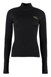 Ribbed sweater, Turtleneck sweaters Versace woman