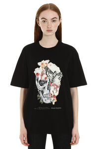 T-shirt in cotone con stampa, T-shirt Alexander McQueen woman