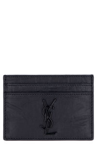 Cocco print leather card holder, Wallets Saint Laurent man