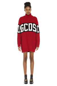 Turtleneck sweater dress, Mini dresses GCDS woman