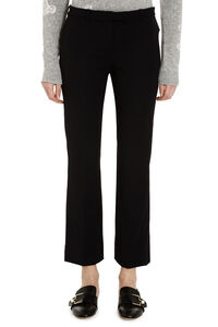Pevera cady straight-leg trousers, Cropped pants S Max Mara woman