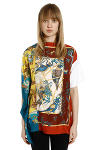 Printed silk panel t-shirt, Printed tops Salvatore Ferragamo woman