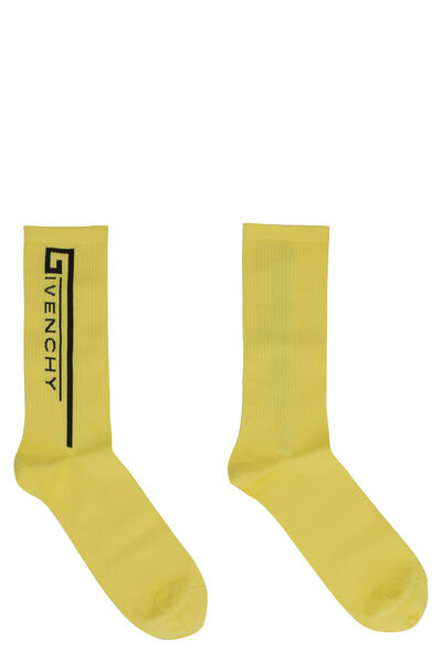 Terry cloth socks with logo