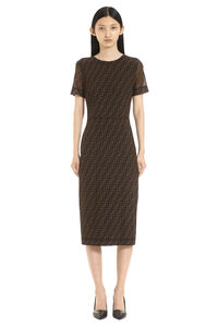 Mesh sheath dress, Knee Lenght Dresses Fendi woman