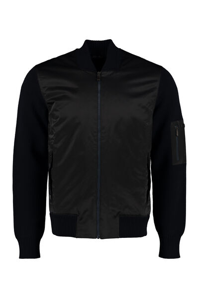 Cardigan with padded frontal panel