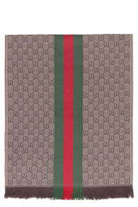GG pattern jacquard shawl, Scarves Gucci man