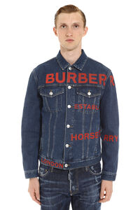 Printed denim jacket, Denim jackets Burberry man